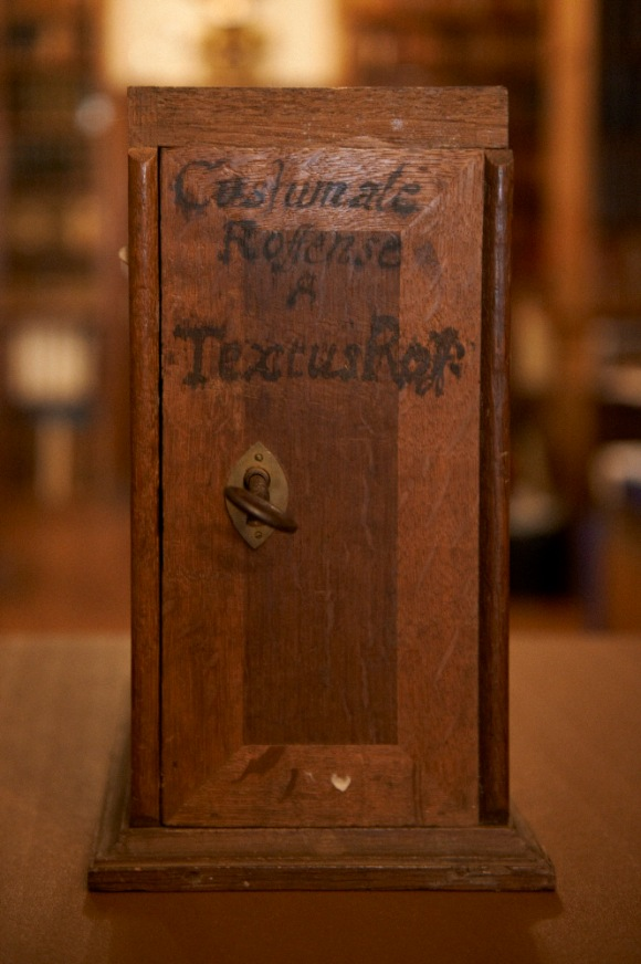 The original storage box for the Textus Roffensis